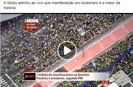 É #FAKE que manifestação pró-Bolsonaro é a maior da história